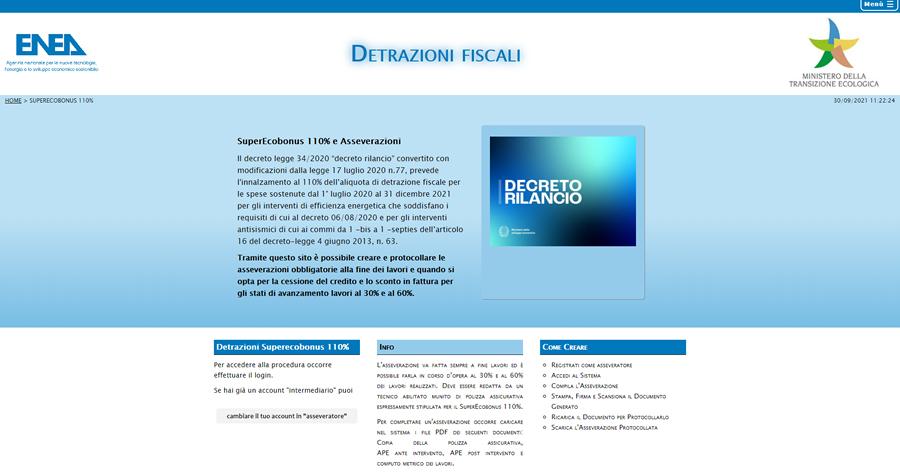 Superbonus 110%: come fare l'asseverazione sul portale Enea
