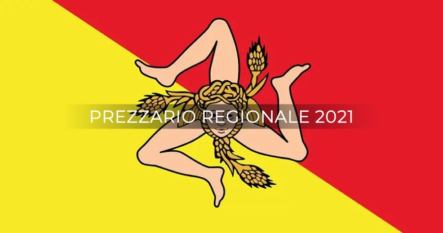 Regione Siciliana: prorogato il Prezzario regionale 2020 anche per il 2021