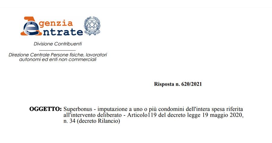Superbonus 110% e Condomini: nuovi chiarimenti dal Fisco