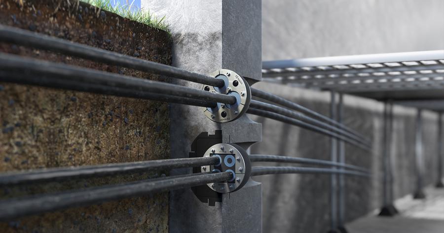Roxtec UG™: per applicazioni sotto il livello del suolo, contro la pressione costante dell'acqua