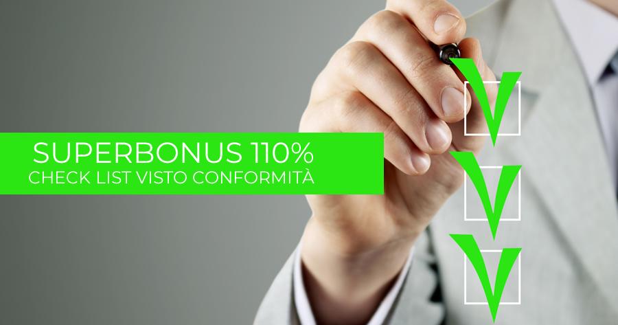 Superbonus 110%: le nuove check list per il visto di conformità Ecobonus e Sismabonus