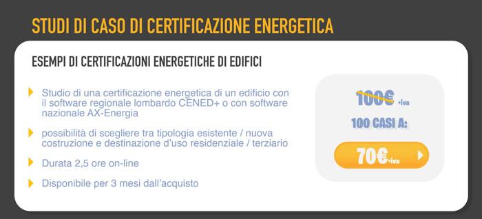 Studi di caso di certificazione energetica