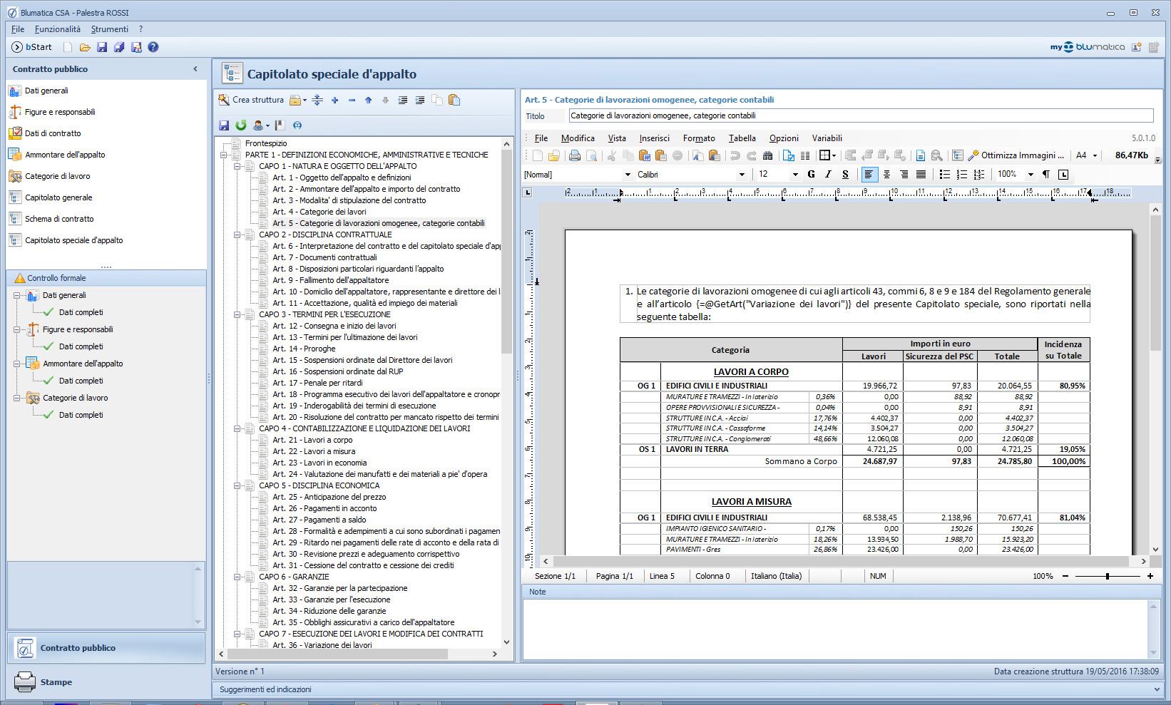 Blumatica csa software per la redazione del capitolato for Software di progettazione edilizia domestica