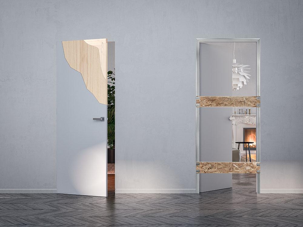L arte dell integrazione totale di syntesis line battente - Porta tamburata legno ...