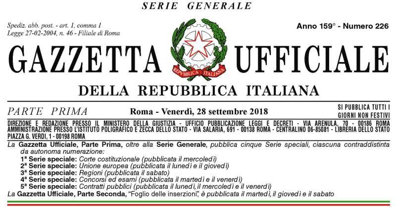 Decreto Genova: Pubblicato sulla Gazzetta ufficiale di ieri