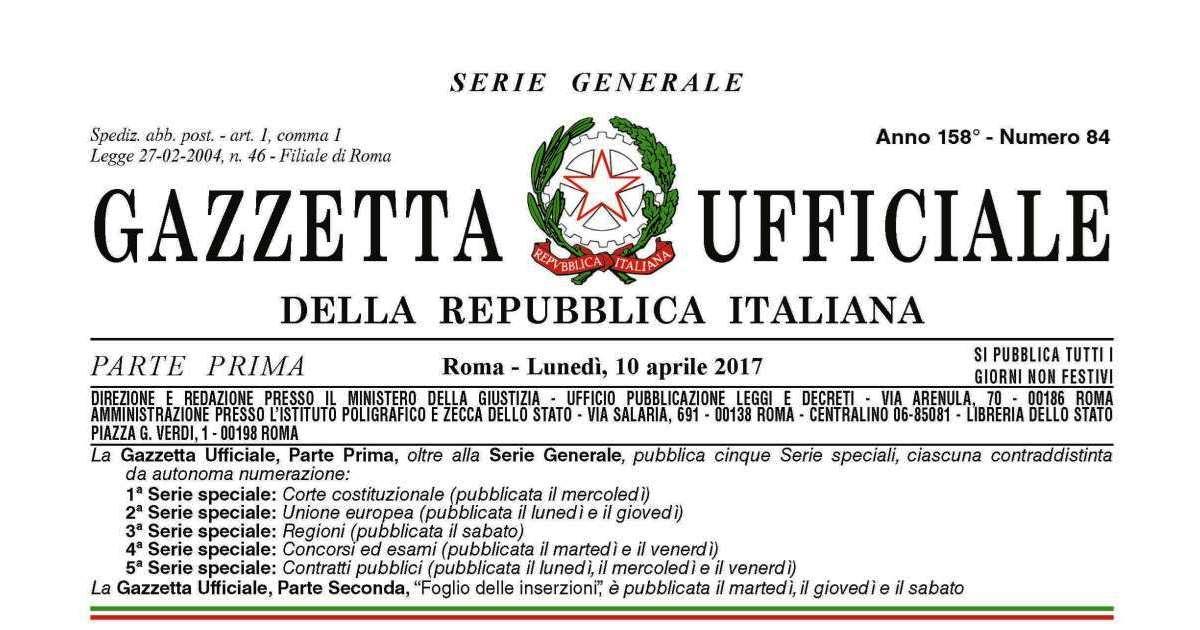 Terremoto centro-Italia: in Gazzetta la legge di conversione del d.l. n. 8/2017