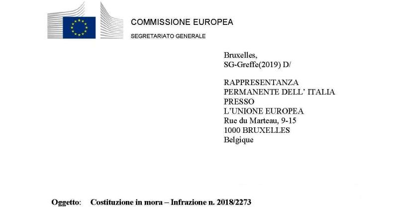 Codice dei contratti: Ecco la lettera di costituzione in mora inviata dalla UE al Governo italiano