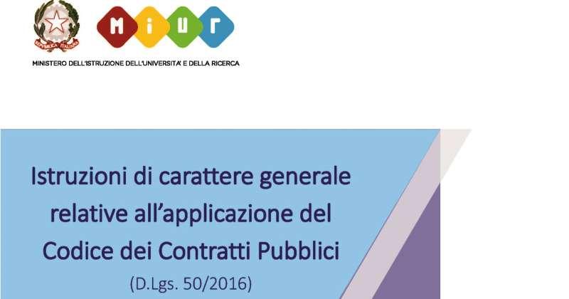Codice Contratti Pubblici: Istruzioni operative Miur