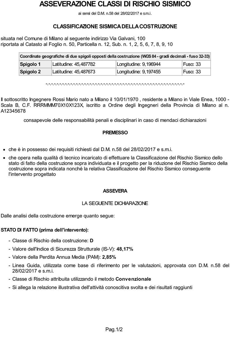 Classificazione Edifici SismicaacsDegli Di Nuovo Attestato DYbIWH9E2e