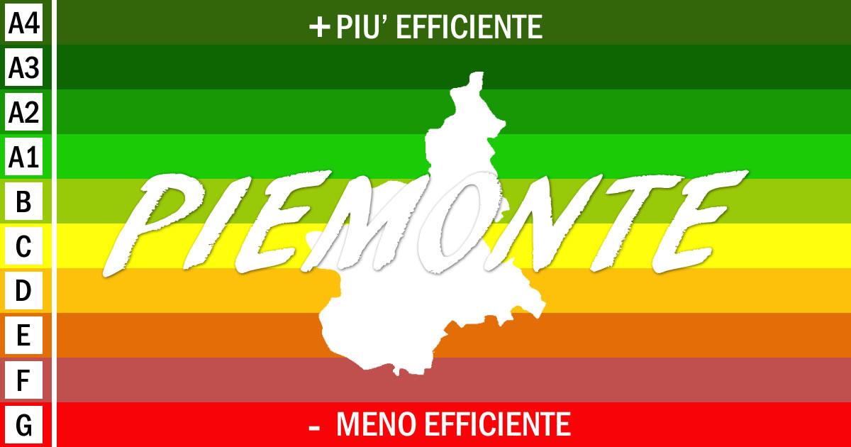 Piemonte: nuove disposizioni in materia di attestazione della prestazione energetica degli edifici