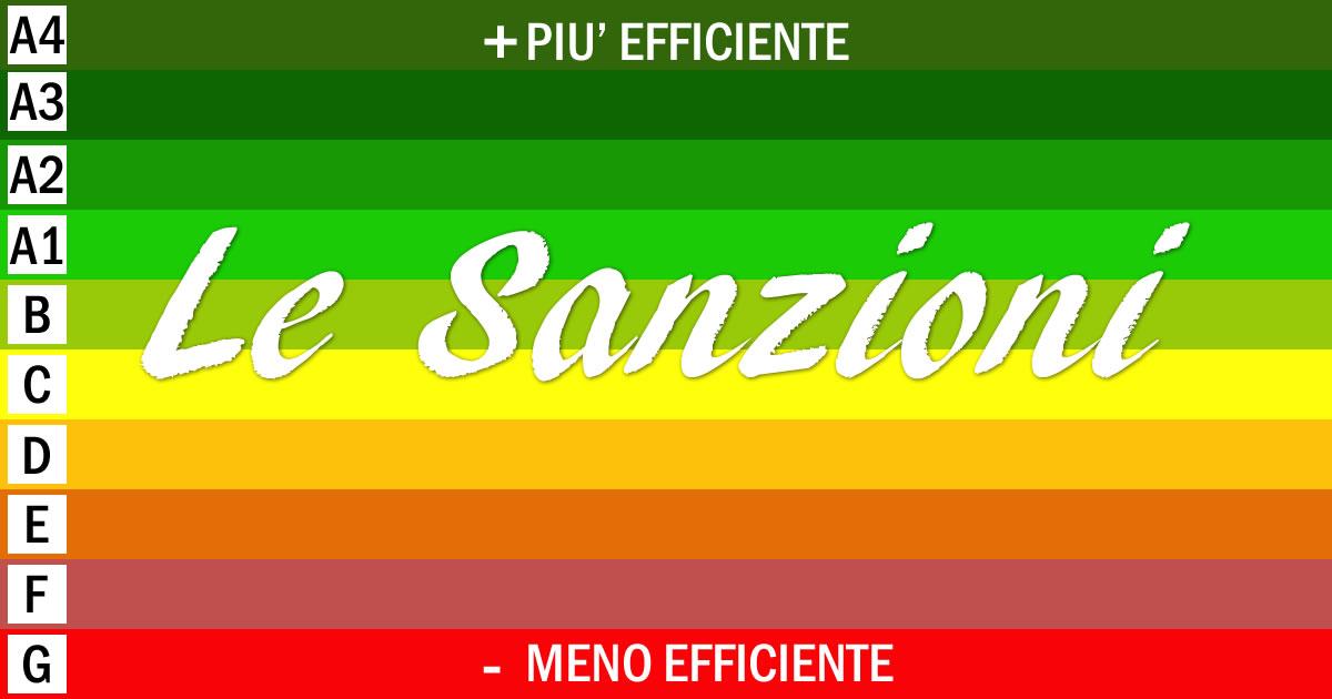 Certificazione energetica: le sanzioni in vigore dall'1 ottobre 2015