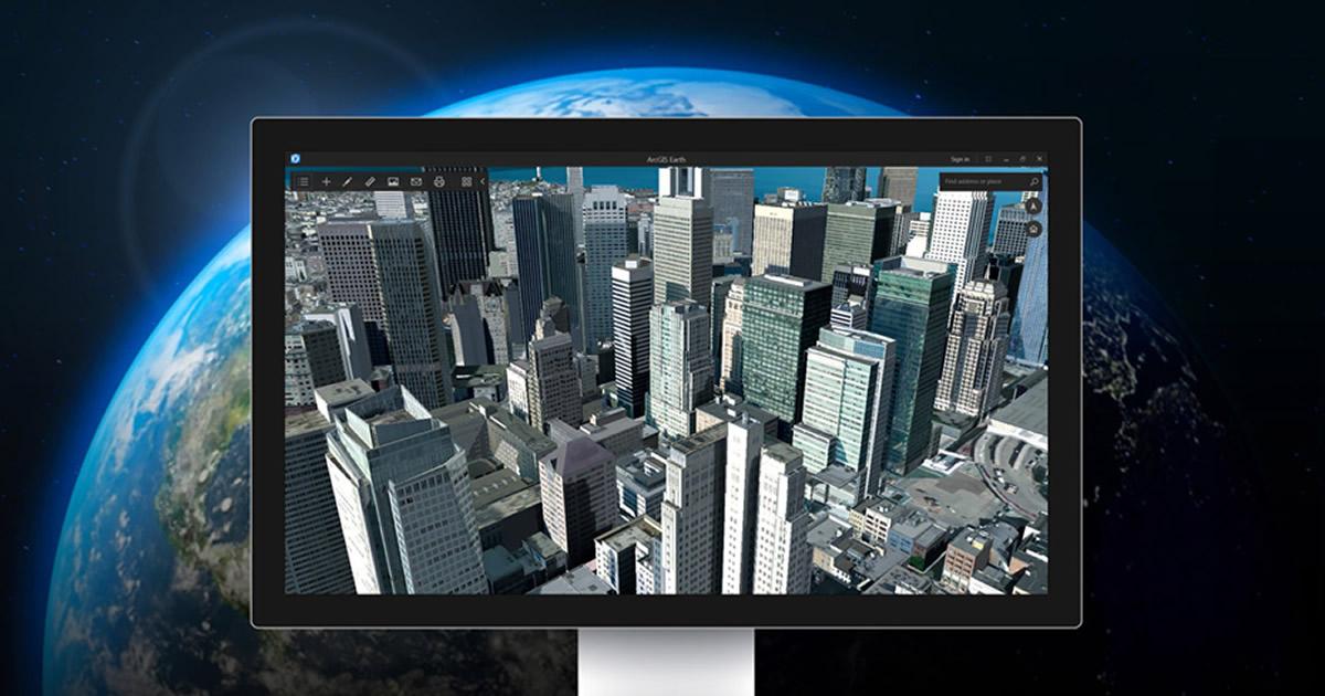 Innovazione e tecnologia: Esri lancia ArcGIS Earth, infinite mappe 3D a portata di mouse
