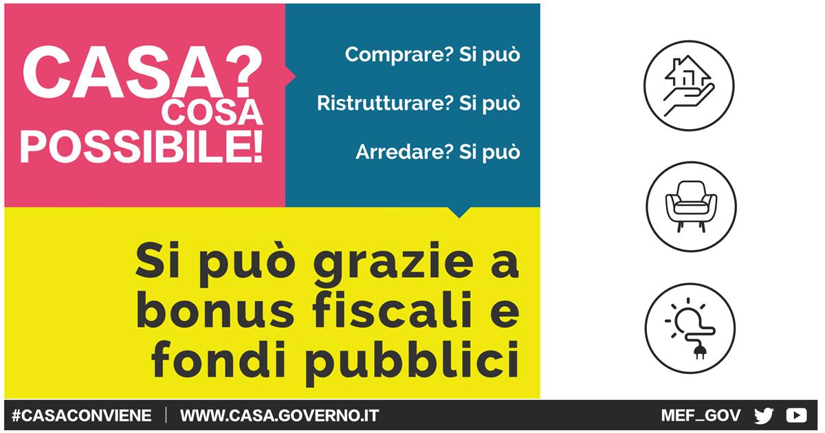 #CasaConviene: Al via la campagna informativa promossa dal MEF