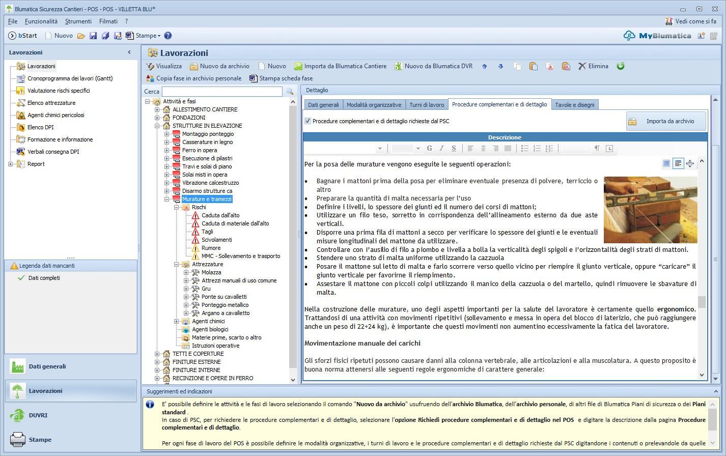 Blumatica pos redazione e aggiornamento del piano for Software per planimetrie