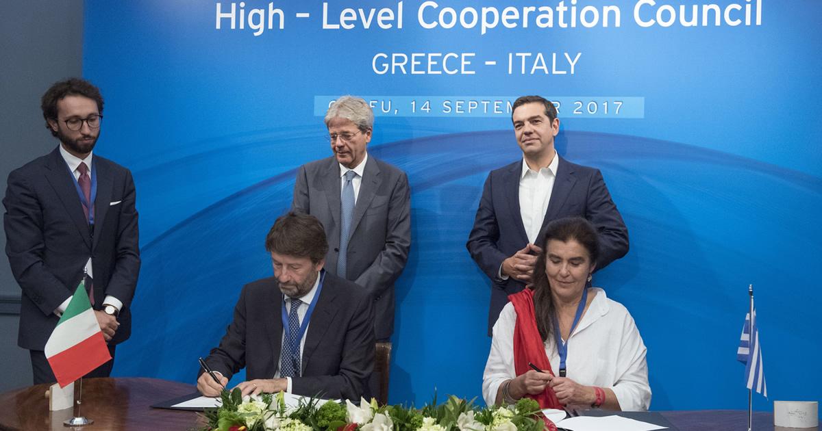 Firmano accordo Italia-Grecia su contrasto al traffico illecito di patrimonio culturale