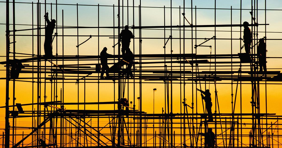 Costruzioni, dal 2012 persi 292 mila posti di lavoro