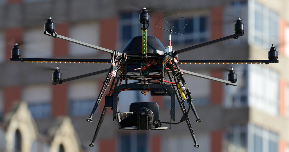 Trattamento dei dati rilevati da droni in campo aperto