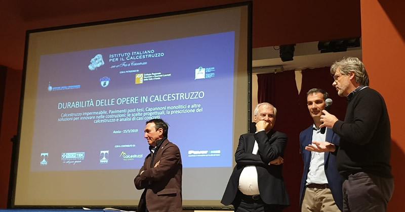 La Fondazione Istituto Italiano per il calcestruzzo assieme alla Regione Autonoma della Val D'Aosta per la Durabilità delle opere in calcestruzzo
