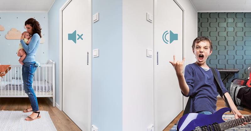Spazio al silenzio: soluzione acustica per porte scorrevoli a scomparsa