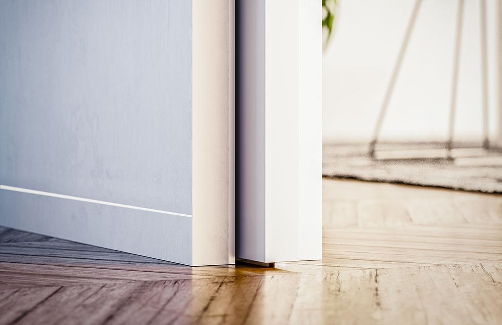 Il battiscopa rasomuro funzionale elegante e moderno for Battiscopa filo muro