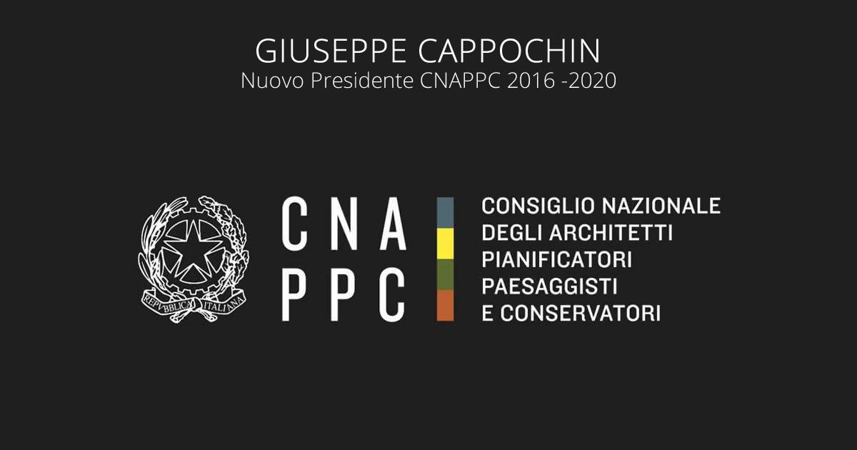 Architetti, Giuseppe Cappochin nuovo presidente del Consiglio Nazionale