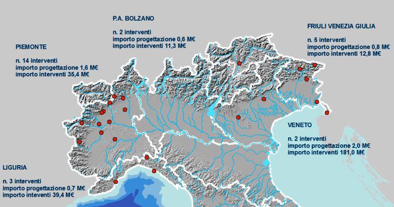 Dissesto idrogeologico: Al via 26 progetti in cinque regioni