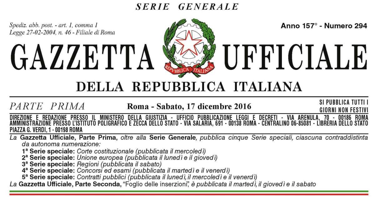 Terremoto centro-Italia: In Gazzetta la legge di conversione del decreto-legge n. 189