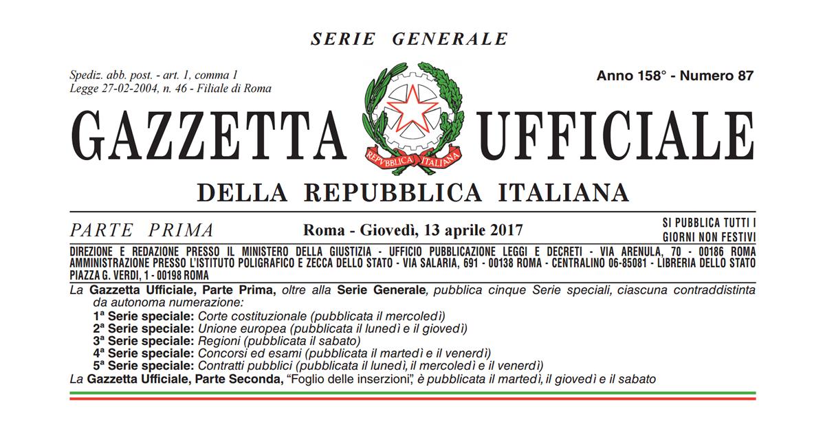 Terremoto centro Italia: in Gazzetta l'Ordinanza n. 444/2017