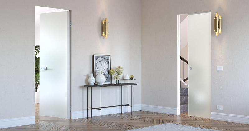 Eclisse Syntesis® Battente Vetro: la nuova porta completamente in vetro