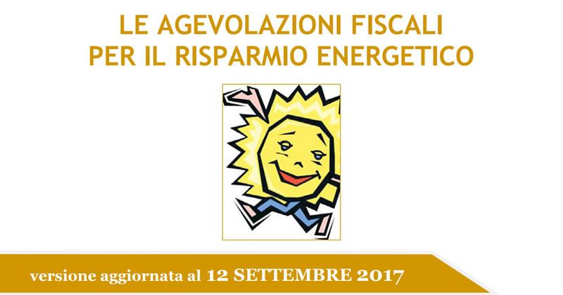 Risparmio energetico aggiornata la guida dell 39 agenzia for Detrazioni fiscali 2017 agenzia delle entrate