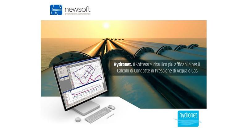 Hydronet, il software dedicato all'Idraulica in noleggio gratuito 60 giorni