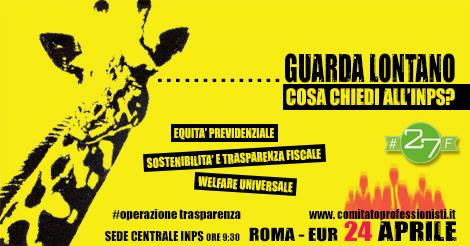 Le Partite IVA fanno sul serio, il 24 aprile manifestazione nazionale sotto la sede dell'INPS