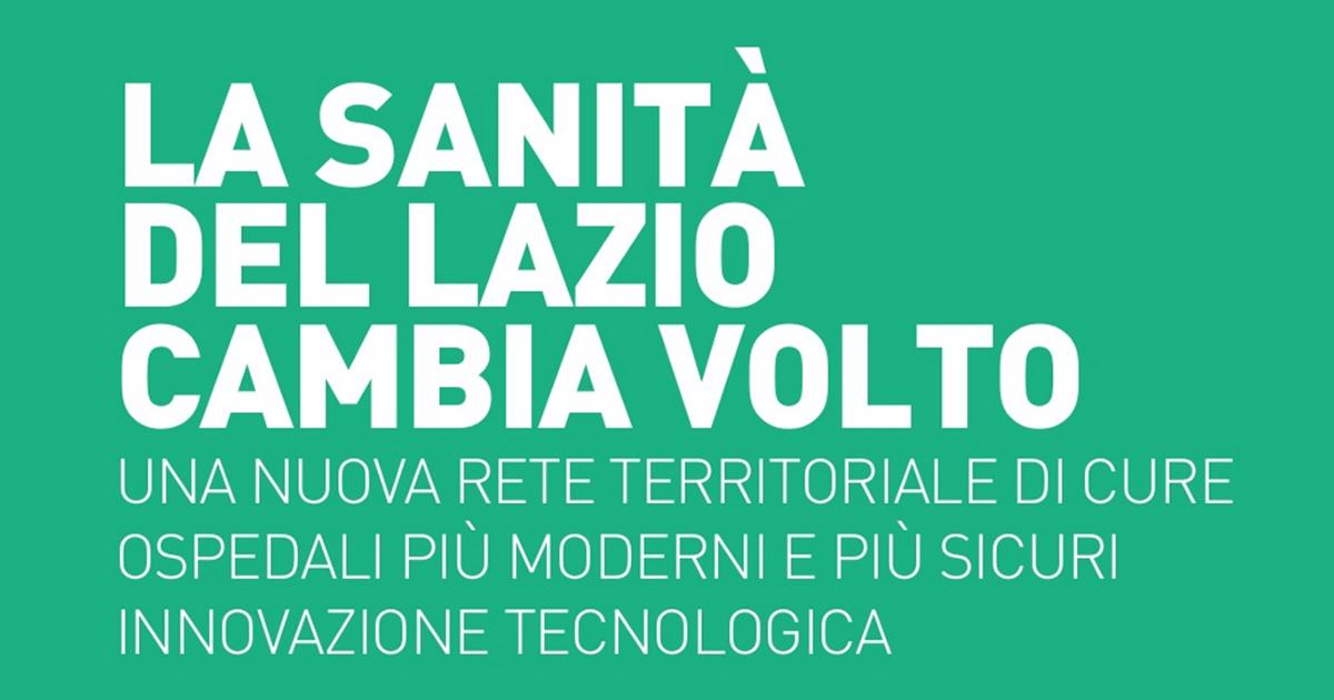 Edilizia sanitaria, in Lazio al via un piano da 264 milioni di euro per 87 interventi