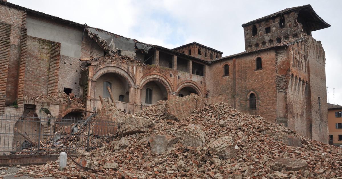Sisma Mantova: 138 milioni per municipi, scuole, chiese e imprese