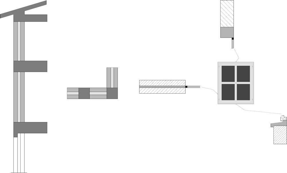 Schematizzazione di alcuni dei ponti termici più comuni