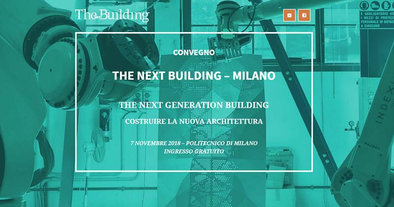 THE NEXT GENERATION BUILDING: Costruire la nuova architettura