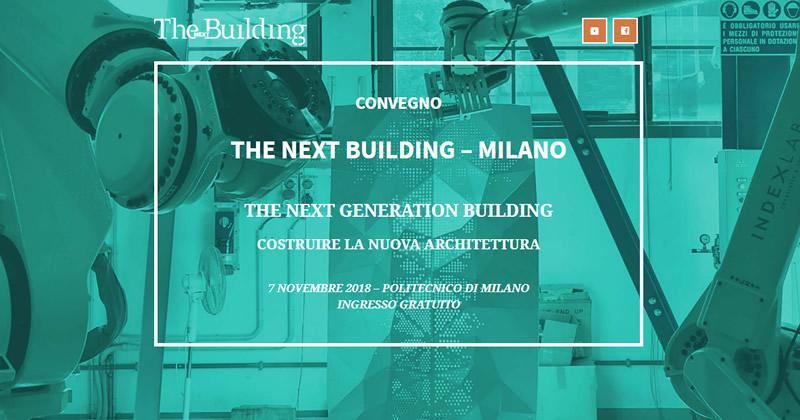 THE NEXT GENERATION BUILDING Costruire la nuova architettura