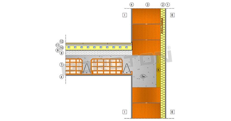 Ponti termici: il nodo parete-solaio