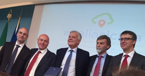 Dissesto idrogeologico: firmato protocollo d'intesa tra Cantone, Galletti, Delrio e D'Angelis