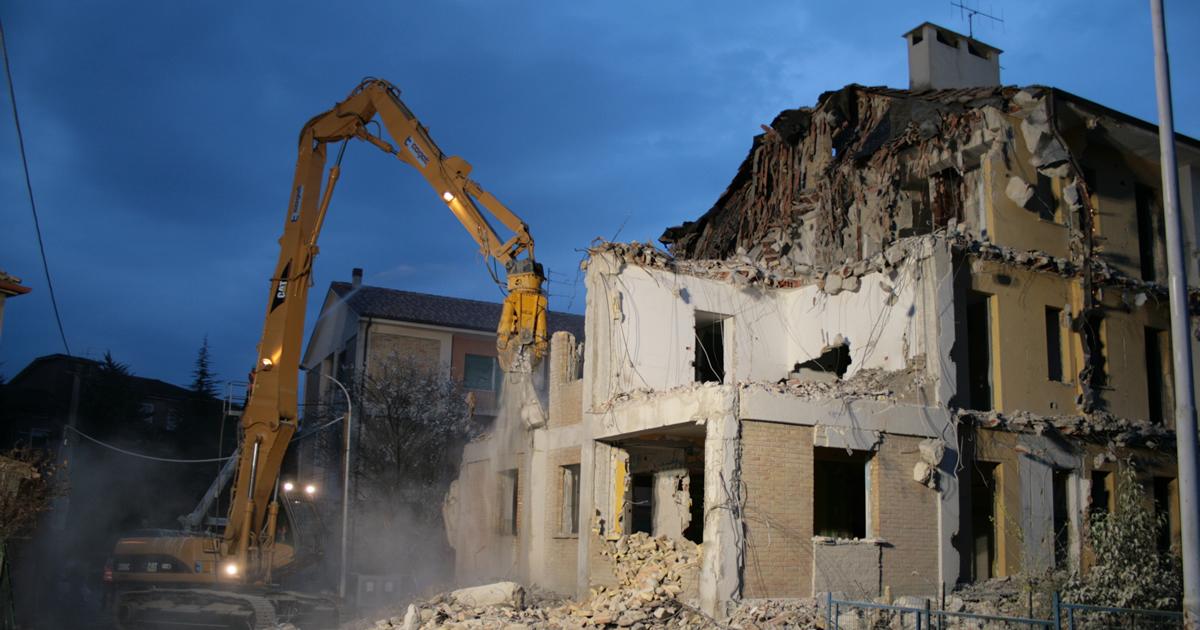 Puntellamenti e demolizioni: le indicazioni operative della Protezione Civile