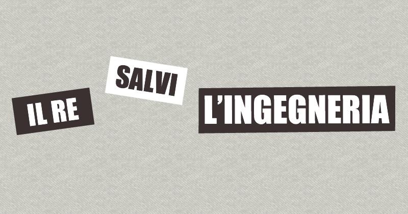 NTC 2018: il Re salvi l'Ingegneria!