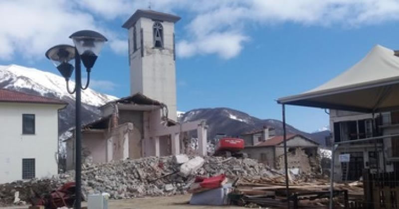 Terremoto centro Italia: 25 milioni di euro per finanziare la ricostruzione degli edifici religiosi