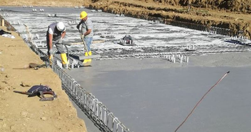 Ricostruzione post-terremoto: completata la platea di fondazione della Scuola Capranica di Amatrice
