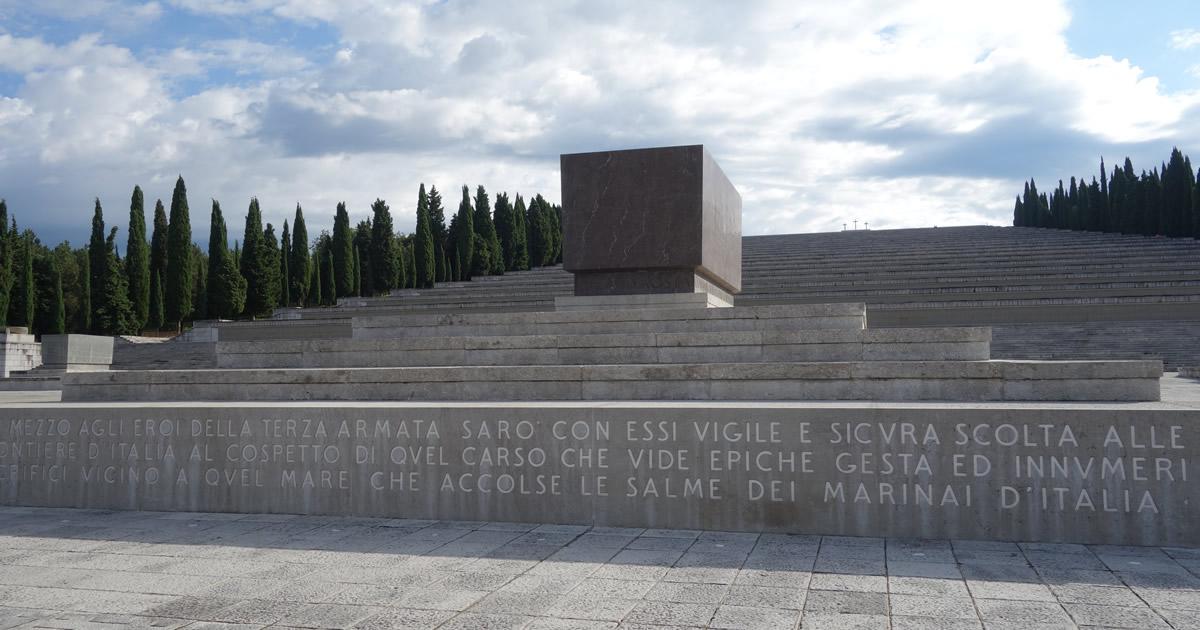 Progettazione esecutiva ed esecuzione lavori restauro del Sacrario Militare di Redipuglia
