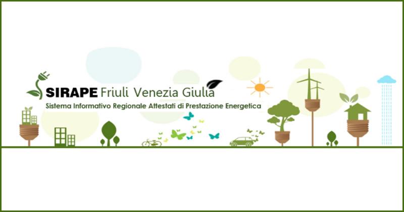 Friuli Venezia Giulia, dal 20 giugno 2018 attivo 'Sirape FVG' per il deposito e la visura degli attestati di prestazione energetica (APE)