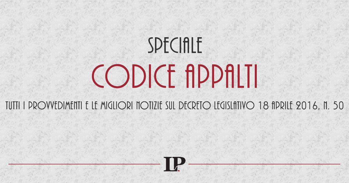 Speciale Codice Appalti