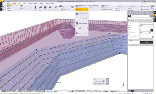 The first phase of a next generation reinforcement method provides users with more flexibility to create and modify reinforcements for different types of concrete geometries