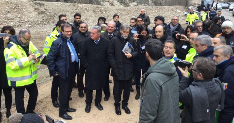 Terremoto centro Italia: sopralluogo Ministro Delrio