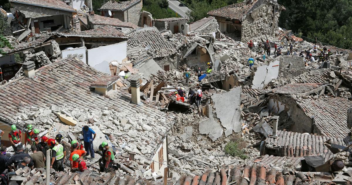 Terremoto centro-Italia: Professionisti in prima linea per il piano di prevenzione