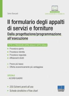 Il formulario degli appalti di servizi e forniture - Dalla progettazione/programmazione all'esecuzione